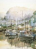 Boats Near Mendocino Fine Art Print