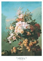 Roses and Other Flowers in an Urn Fine Art Print