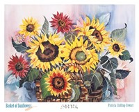 Basket of Sunflowers Fine Art Print