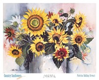 Country Sunflowers Fine Art Print