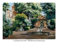 A Garden in Seville Fine Art Print