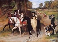An Elegant Promenade Fine Art Print
