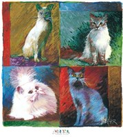 Cats, Montage Fine Art Print