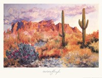 Superstition Sunset in March Framed Print