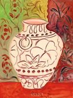 Lotus Pot I Framed Print