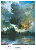 Storm at Spirit Lake Fine Art Print