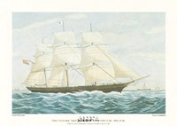 Clipper Ship Mirage Framed Print