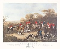 The Bury Hunt Framed Print
