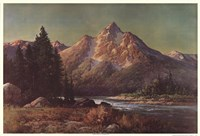 Evening in the Tetons Framed Print