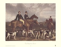 The Hevthorp Hunt Framed Print