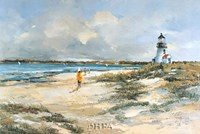 By the Lighthouse Fine Art Print