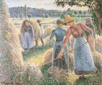 Haymakers, Evening, Eragny Fine Art Print