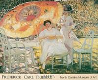 The Garden Parasol, 1909 Fine Art Print
