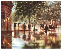 Spring Showers, London Fine Art Print