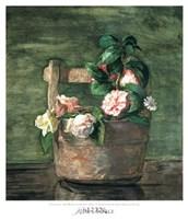 Camellias & Roses in Japanese Vase Fine Art Print