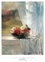 Flowers on a Window Ledge Fine Art Print