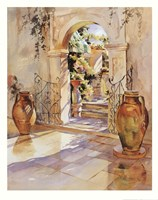 Italian Garden Wall Framed Print
