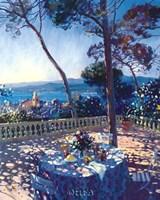 La Terrasse sur St. Tropez Framed Print