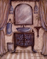 Charming Bathroom III Framed Print