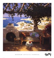 Bodrum Leyla's Terrace Fine Art Print