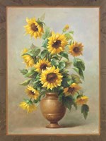 Sunflowers In Bronze II Fine Art Print