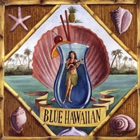 Blue Hawaiian Framed Print