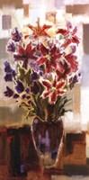 Lilies in Purple Vase Framed Print