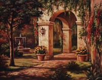 Arch Courtyard I Fine Art Print