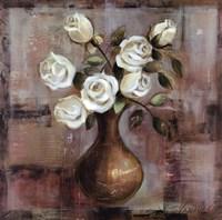 Roses on White Background Framed Print
