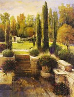 In the Cypress Garden Fine Art Print