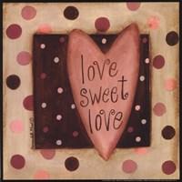 Love Sweet Love Framed Print