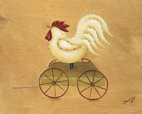 Rooster Pull Toy Fine Art Print