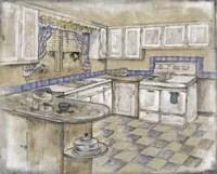 Mid Century Kitchen II (Sm) Fine Art Print