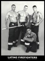 Latino Firefighters Fine Art Print