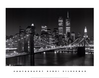 New York, New York, Brooklyn Bridge Framed Print