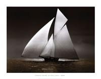 Iverna Yacht at Full Sail,1895 Fine Art Print