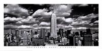 New York, New York, Clouds Over Manhattan Framed Print