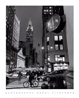 Chrysler Clock, Madison Avenue Fine Art Print