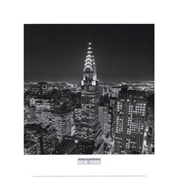 New York, New York, Chrysler Building at Night Fine Art Print