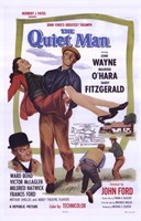 The Quiet Man Wayne Carrying O'Hara Wall Poster