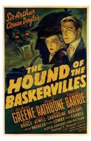 The Hound of the Baskervilles Greene Rathborne & Barrie Wall Poster