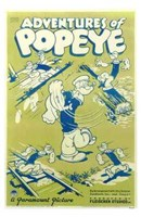 Adventures of Popeye Wall Poster