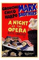 A Night At the Opera Groucho Chico Harpo Framed Print