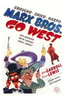 Go West Wall Poster