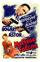The Maltese Falcon Bogart Astor Wall Poster