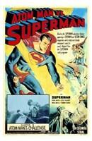 Atom Man Vs Superman Atom Man's Challenge Wall Poster