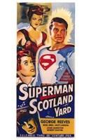 Superman in Scotland Yard Wall Poster