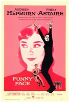 Funny Face Audrey Hepburn Wall Poster