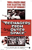 Teenagers from Outer Space Wall Poster