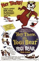 Hey There It's Yogi Bear Butler And Messick Wall Poster